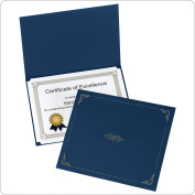 Oxford Certificate Holders, Letter Size, Dark Blue, 5 per Pack