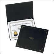 Oxford Certificate Holders, Letter Size, Black, 5 per Pack