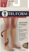 Truform 0845, Compression Stockings, Below Knee, Open Toe, 30-40 mmHg, White, Medium