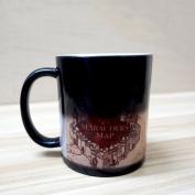 Harry Potter Marauder's Map Colour Changing Magic Black Heat Sensitive Coffee Mug
