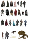 26 Stand Up Game of Thrones Premium Edible Wafer Paper Cake Toppers