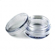 JOVANA 500 pcs New Empty Clear Plastic Cosmetic Containers 3 Gramme Size Pot Jars Eye Shadow Container Lot Size:Diameter
