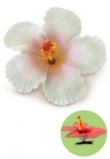 Hibiscus Clip Foam Flower - White by Welcome to the Islands