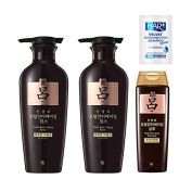 Ryoe Ginsengbo Total Anti-ageing Rinse 400ml x 2ea + Shampoo 180ml +Hairplus Non silicon shampoo 8ml