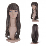 MelodySusie® Multi-Colour Long Straight Wig - High Quality Stylish Women Long Straight Wig with Free Wig Cap and Wig Comb