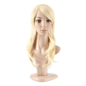 MelodySusie® Blonde Mid-length Straight Wig - High Quality Gorgeous Women Mid-length Straight Wig with Free Wig Cap and Wig Comb