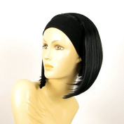 Headband Wig Women Short Smooth BLACK Ref DOROTHEE 1B