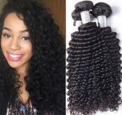 Etino Beauty Top Quality 4 Bundles Brazilian Virgin Deep Wave, Natural Colour Raw Unprocessed 100% Human Hair Virgin Deep Wave Hair Weave Mixed Size8 -80cm