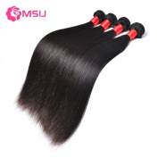MSU Grade 8A Malaysian Straight Remy 4 Bundles 16 18 20 50cm Natural Colour 400g/Lot