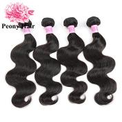Peony Hair 8A Grade Brazilian Body Wave hair 4 bundles Remy Human Hair extension Uprocessed Virgin Hair Natural Colour