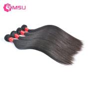 MSU Grade 8A Peruvian Virgin Hair Straight 4 Bundles 400G 24 24 26 70cm Natural Colour Remy Hair
