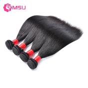 MSU 8A Peruvian Virgin Hair Straight 4Bundles 16 16 18 46cm Natural Colour 400g Remy Hair