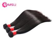 MSU Grade 8A Malaysian Straight Hair 3 Bundles 24 26 70cm Natural Black 100g/Bundle Remy Bouncy Human Hair