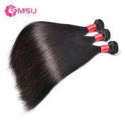 MSU Grade 8A Malaysian Straight 3 Bundles 22 24 60cm 300g/Lot Remy Natural Colour Hair Weave