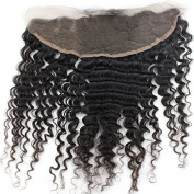 Peruvian Deep Wave Lace Frontal Closure Virgin Human Hair Frontal Ear To Ear 13X4 With Baby Hair
