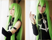 Ezcosplay® 100cm Anime Cosplay Wig Green Code Geass C.C. Long Synthetic Hair Wigs Costume and a Wig Cap