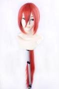 Ezcosplay® Anime Cosplay Wig Orange Rurouni Kenshin Himura Kenshin Long Synthetic Hair Wigs Costume and a Wig Cap