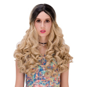 Synthetic Wig Long Wavy Lace Front Wigs Heat Resistant Curly Cosplay Hair Wig