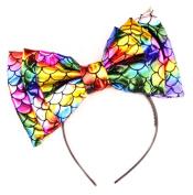 Women's Marialia Metallic Rainbow Mermaid Bow