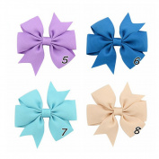 Efivs Arts Baby Girl Hair Clips, 20 PCS Boutique Girls Bow Tie, Pinwheel Hair Bow Alligator Clips, Barrettes
