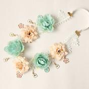 Meiliy Flower Garland Crown Flower Headband Hair Wreath for Wedding Festivals
