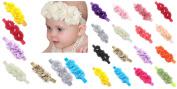 FEITONG 17PC Baby Newborn Toddler Elastic Headband Chiffon Flower Photography Headbands