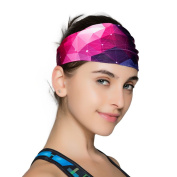 Yoga Headbands for Women - Wide Non Slip Design for Running Workout and Fitness