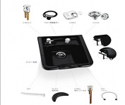 Premium ABS Plastic Shampoo Bowl Sink Beauty Salon Spa Equipment