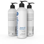Hairomega Argan Oil Shampoo for Hair Loss and Dandruff - Supports Healthier, Stronger, Longer Hair Growth