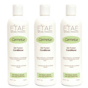 Etae Natural Products Carmelux E'tae Shampoo Conditioner Protein Treatment for Relaxed and Colour Treated Hair Combo Kit Bundle