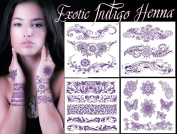Exotic Indigo Henna Tattoo Art