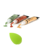 L.A. Girl Pro Conceal Set Orange, Yellow, Green Correctors With Tweezty® Beauty Makeup Blender