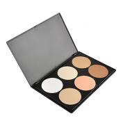 Professional 6 Colours Blush Trimming Set Makeup Contour Blusher Face Foundation Powder Palette