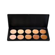 10 Colours Cream Facial Concealer Makeup Cream Foundation Palette
