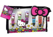 Hello Kitty Lip Gloss with Cosmetic Bag 5 Glosses