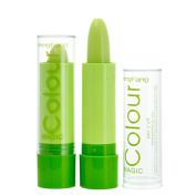 HSL Fashion Magic Waterproof Fruity Smell Changable Colour Lipstick Lip 3 pcs Green
