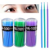 Polytree Disposable Lint Free Eyelash Extension Microbrush 300 Pcs