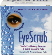 Alcon Eye Scrub Sterile Eye Makeup Remover & Eyelid Cleansing Pads -- 30 Pads