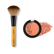 Eglipse Apple Fit Blusher and Flalia Premium Modern Brush SET Tangerine Coral + Choco Brush