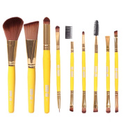 Dreaman 9pcs Makeup Cosmetic Brushes Eyeshadow Eye Shadow Foundation Blending Brush Yellow