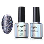 FairyGlo Glitter Gel Nail Polish Soak Off UV LED Shimmer Fashion Manicure Salon Nail Art For Elegant Lady Beauty Girl Wearing 023 10ml