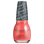 SinfulColors Kylie Jenner Trend MATTErs Collection Pure Satin Mattes, Koral Riff (Bright Coral) 15ml