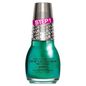 SinfulColors SinfulShine 2 Step Manicure Kylie Jenner King Kylie Collection, Step 1, Kryptonite (Teal Shimmer) 15ml (