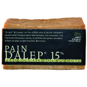Aleppo Soap 15% Laurel Oil Pain d'Alep - 210gm220ml