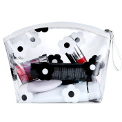 Micom Flowers Waterproof Clear Transparent PVC Cosmetic Bags Toiletry Bag with Zipper