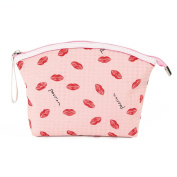 Micom Waterproof Sexy Lips Zipper Cosmetic Bag Large Makeup Pouch for Women,girls