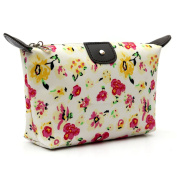Micom Vintage Floral Zipper Cosmetic Bag Large Makeup Pouch for Women,girls