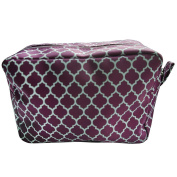 Quatrefoil Printed Travel Cosmetic Pouch Bag