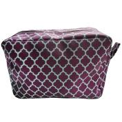 Quatrefoil Printed Travel Cosmetic Pouch Bag