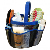 Evelots Travel Toiletry Bag, Portable Shower Caddy, Travel Kit / Beach Bag, Blue